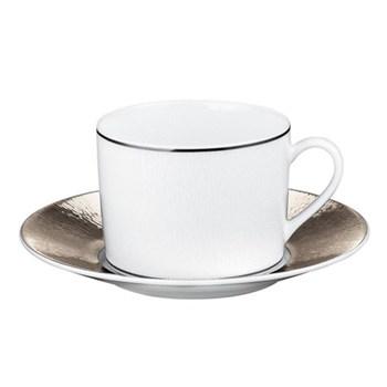 Dune Teacup and saucer, platinum