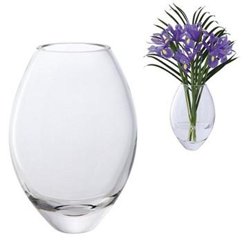 Opus Vase, H17.5cm, clear