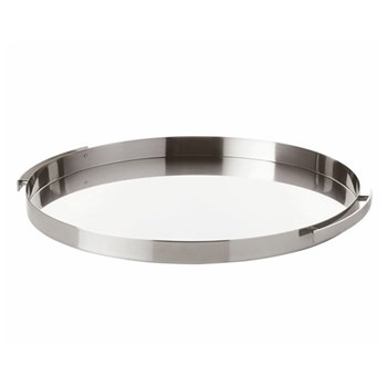 Arne Jacobsen Serving tray, W33.5 x H2.4cm, satin stainless steel