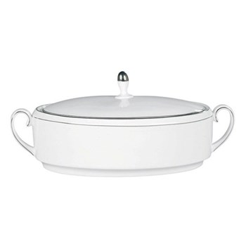 Vera Wang - Blanc sur Blanc Covered vegetable dish, 3 litre