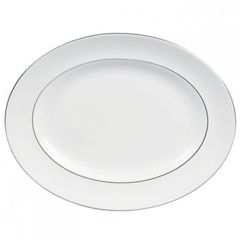 Vera Wang - Blanc sur Blanc Oval dish, 39cm