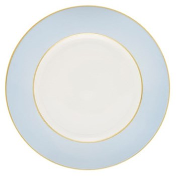 Sous le Soleil Dinner plate, 26.5cm, ice blue with gold band
