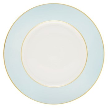 Sous le Soleil Dinner plate, 26.5cm, opal with gold band