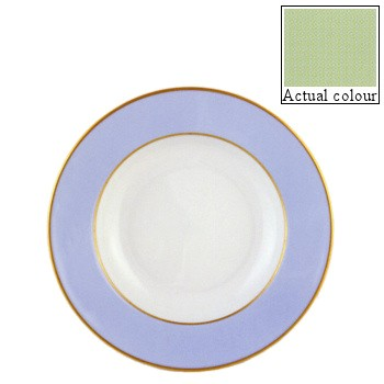 Sous le Soleil Soup plate, 22.5cm, pastel green with gold band