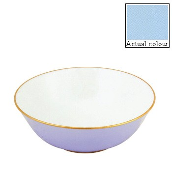 Sous le Soleil Open vegetable dish/salad bowl, 25cm, opal with gold band
