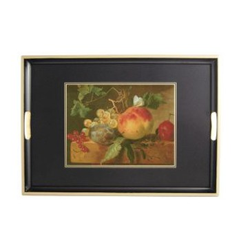 17th Century Still Life - Traditional Range Traditional tray, 55 x 39.5cm, black