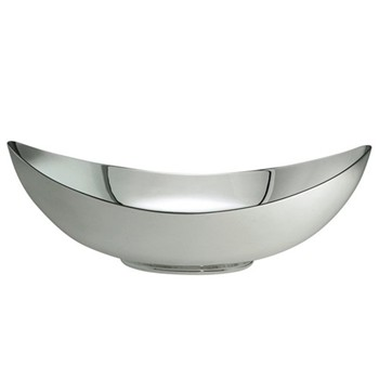 """Large bowl, 9.8"""", silver plate"""