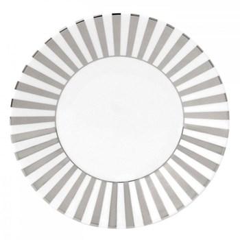 Jasper Conran - Platinum Plate, 23cm, striped