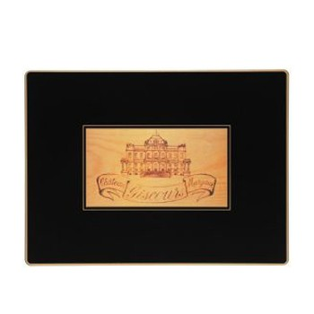 Wine Labels - Traditional Range Set of 4 continental placemats, 39 x 29cm, black