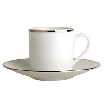 Cristal Coffee cup and saucer, 8cl