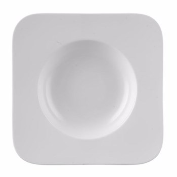 Free Spirit Pasta plate square, 29cm, white