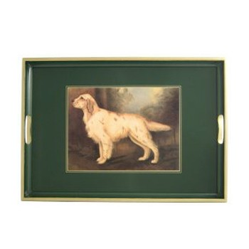 Sporting Dogs - Traditional Range Traditional tray, 55 x 39.5cm, bottle green