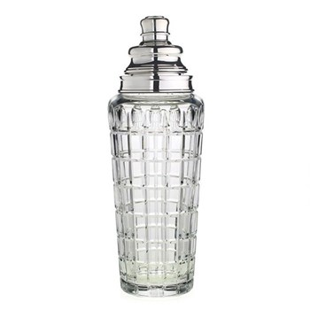 Jerry Cocktail shaker, crystal with silver top
