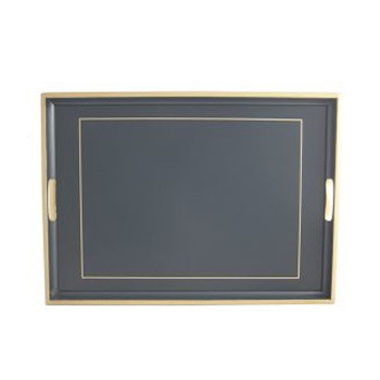 Screened Range Traditional tray with frameline, 55 x 39.5cm, Oxford blue