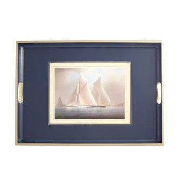 Racing Yachts - Traditional Range Traditional tray, 55 x 39.5cm, Oxford blue