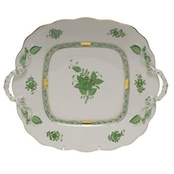 Rectangular platter with handles 29.5 x 25cm