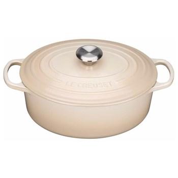 Signature Cast Iron Oval casserole, 29 x 23 x 10cm - 4.7 litre, almond
