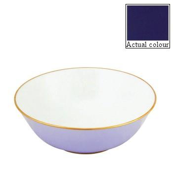 Sous le Soleil Open vegetable dish/salad bowl, 25cm, cobalt blue with gold band
