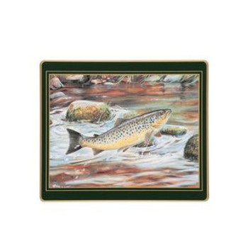 Game Fish - Traditional Range Set of 6 tablemats, 24 x 20cm, bottle green
