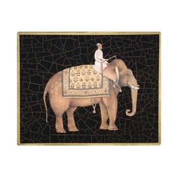 Elephant no.5 Tablemat rectanglular small, 20 x 25cm, black