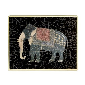 Elephant no.7 Tablemat rectanglular small, 20 x 25cm, black