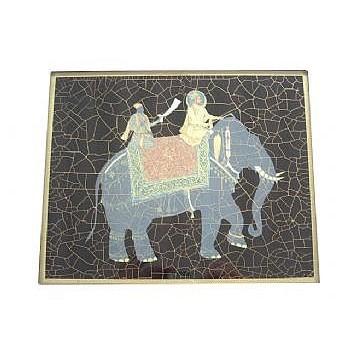 Elephant no.9 Tablemat rectanglular small, 20 x 25cm, black