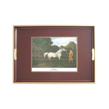 Racehorses - Traditional Range Traditional tray, 55 x 39.5cm, regal red