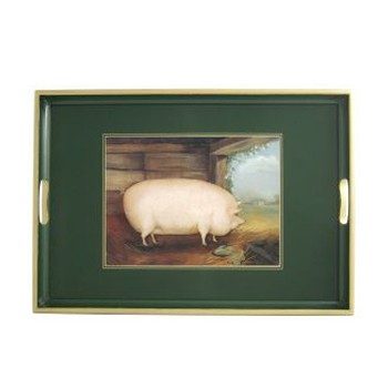 Naive Animals - Traditional Range Traditional tray, 55 x 39.5cm, bottle green