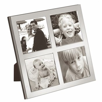 """Photograph frame with 4 apertures 2.5 x 2.5"""""""