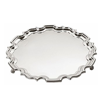 """Unmounted Chippendale waiter, 6"""", sterling silver"""