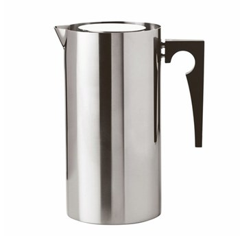 Arne Jacobsen Coffee press maker, H20.1 x W15.9cm, satin stainless steel