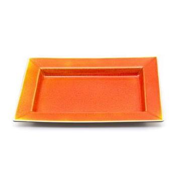 Tourron Rectangular dish, 30 x 20cm, orange