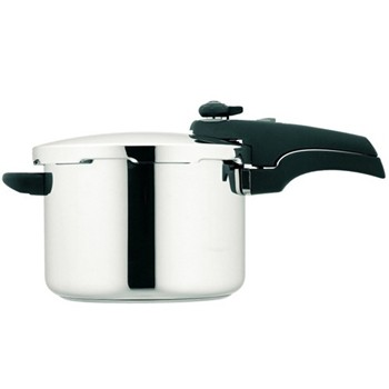 Pressure cooker, 6 litre, stainless steel