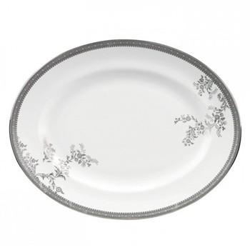 Vera Wang - Lace Platinum Oval dish, 39cm