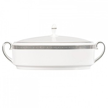 Vera Wang - Lace Platinum Covered vegetable dish, 1.4 litre