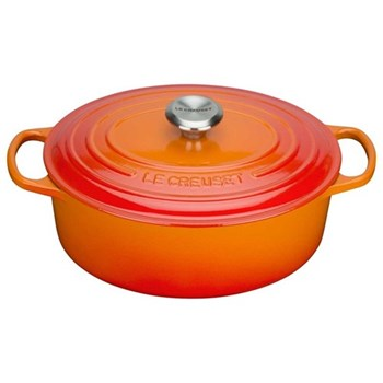 Signature Cast Iron Oval casserole, 25 x 20 x 9cm - 3.2 litre, volcanic