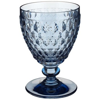 Boston Coloured White wine goblet, 12cm, blue