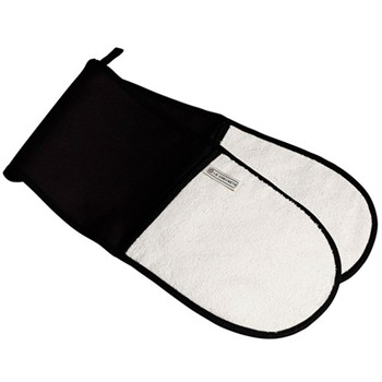 Textiles Double oven glove, black