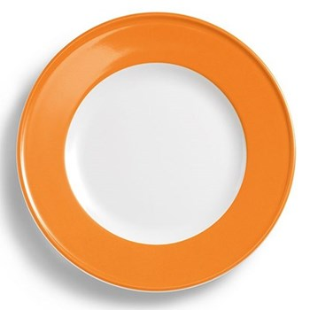 Solid Colour Plate with rim, 26cm, orange