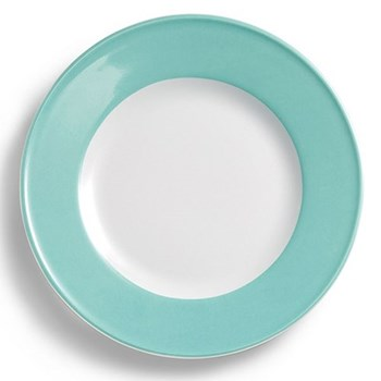 Solid Colour Plate with rim, 26cm, seawater green