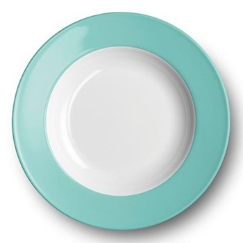 Solid Colour Soup plate with rim, 23cm, seawater green