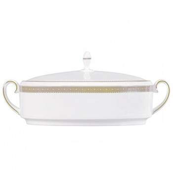 Vera Wang - Lace Gold Covered vegetable dish, 1.4 litre