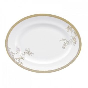 Vera Wang - Lace Gold Oval dish, 39cm