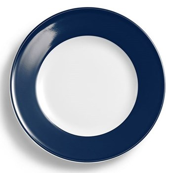 Solid Colour Plate with rim, 26cm, navy
