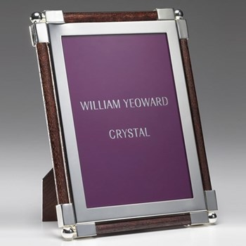 "Classic Photograph frame, 5 x 7"", silver plate and faux ebony"