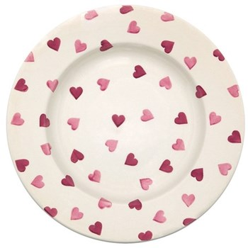 Pink Hearts Plate, 26.8cm