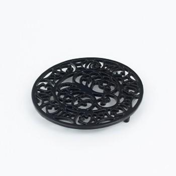 Trivet, black cast iron