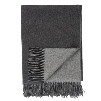 Cashmere woven double faced throw 190 x 140cm