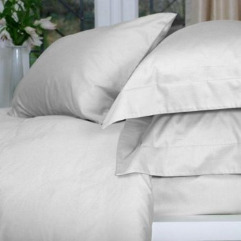 Pisa Super king size duvet cover, 260 x 220cm, white