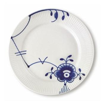 Blue Fluted Mega Dessert plate, 22cm